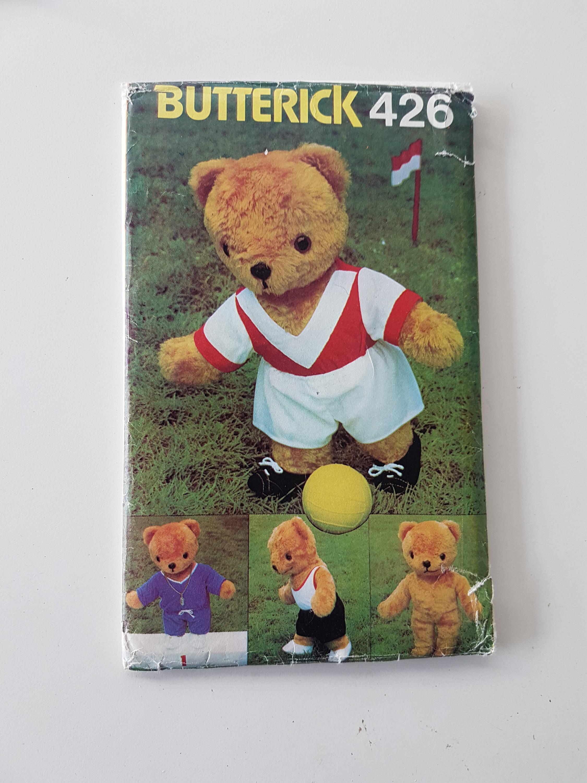 Schnittmuster für Teddy-Bären mit Fußball-Trikot Tank-Top