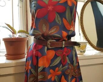 VINTAGE 90'S DRESS • Floral dress • Light summer dress • Bright shift dress •Aline dress• Flowy sleevless dress • Size M • Australian design