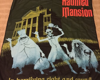 Made to Order (Ships in 4 weeks)  Haunted Mansion Poster Inspired Blanket