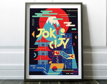 Tokyo Poster, Travel Poster, Wall Art, Travel Print, Tokyo Print, Travel Wall Art, Wall Art Print, Fine Art Print, Tokyo Wall Art, Prints