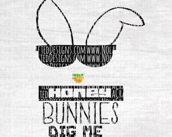 Boy Easter Svg Cut File - Hipster Boy Svg Cut File - Easter Bunny Svg Cut File - Honey Bunnies Dig Me Svg Cut File - Happy Easter