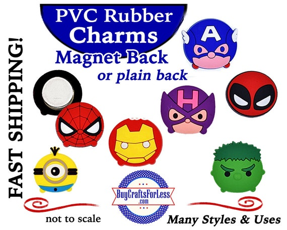 PVC Charm MAGNETS (or plain back), Super Heros * +Ship 99cent -FREE with 10dollar+order