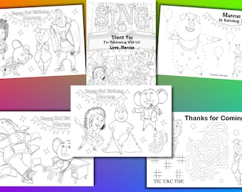 Sing Movie  Birthday Party favor, Sing Movie coloring pages, PDF file