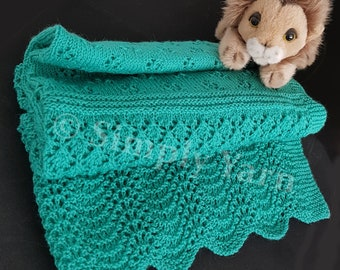 Hand-knitted Pure Wool Baby Blanket