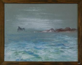 Original Ocean Painting  Sea Painting Modern Painting Oil Painting Seascape Painting  Beach Art
