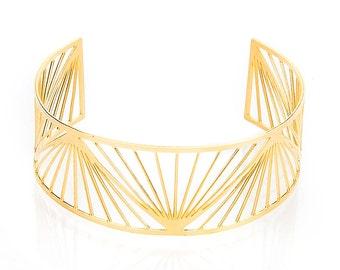 Arm Cuff, Gold Bangle, Geometric Bangle Bracelet, Rose Gold Bracelet, Cuff Bracelet, Lace Bracelet, Bridal Bracelet, statement bracelet