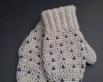Mittens with Heart Accents