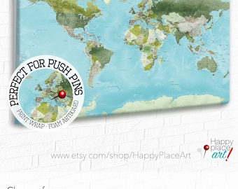 Push pin world map etsy push pin world map with legend customised world map world map with message world map with key personalised message map with quote text gumiabroncs Gallery