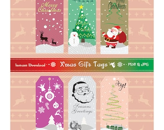 Instant Download Christmas Gift Tags Printable