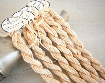 12 skeins Ultra Very Light Tan Embroidery Floss