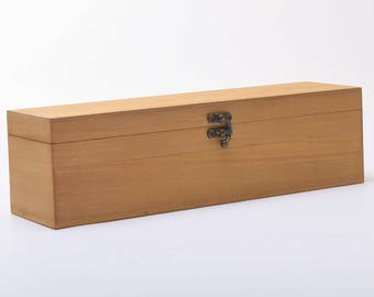 Wooden Hinged Wine Box - HONEY Colour WBM1664