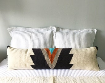 Custom Order Wool Lumbar Pillow Cover, Lumbar Pillow, Boho Lumbar Pillow, Southwest Lumbar Pillow, Kilim Lumbar Pillow, Bohemian Pillow