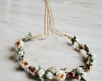 2018 hair accessories wedding flower crown Bridal blush ivory veil accessory flower girl halo winter hair wreath photo prop destination
