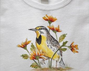 Meadow Lark on T-Shirt