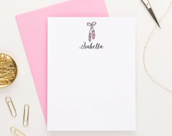 Personalized Ballerina Stationery for girls, Ballerina gift for girls, Ballerina Thank You Cards for girls, ballerina gift ideas, KS066