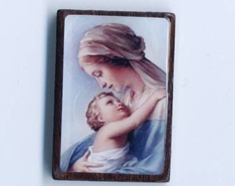 Blue Madonna and Child Component