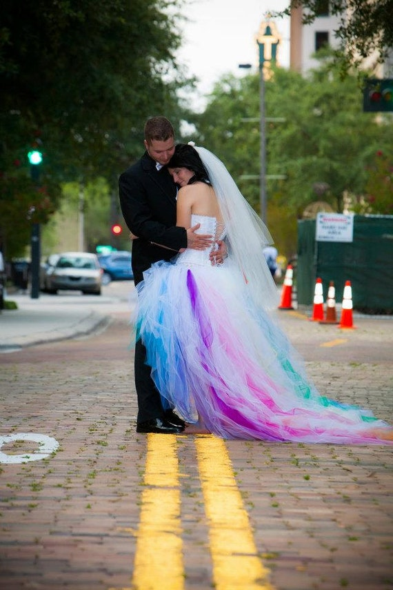 Rainbow wedding dress junglespirit Image collections