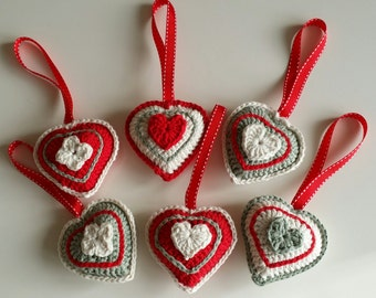 Crochet Heart Hanger home decoration
