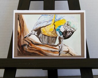 Blue Macaw - Fine Art Card