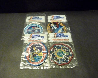 NASA Space Mission Badges- STS 89, 90. 91 and 94- all new in bags