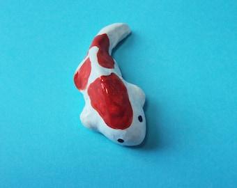 Miniature Koi Fish for Fairy Garden Koi Pond Bi-colored Koi