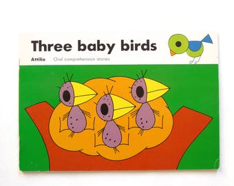 Attilio Juvenile Fiction Childrens Book Three Baby Birds Oral Comprehension Series