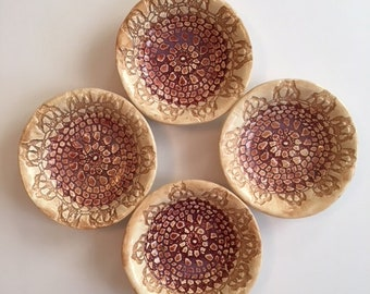 Handmade Ceramic Serving Bowls Set Of Four