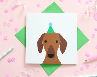 Birthday Dachshund Card