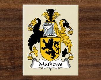 Coat of arms,Family crest, Beige ceramic tile, Heraldry