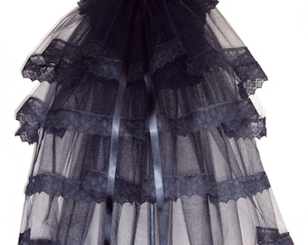 Black Lace  Steam Punk Goth Bustle TuTu Belt US. 12 14 16 UK. 14 16 18