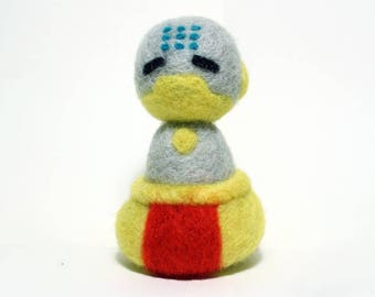 Needle Felted Zenyatta Overwatch Doll [MADE-TO-ORDER]