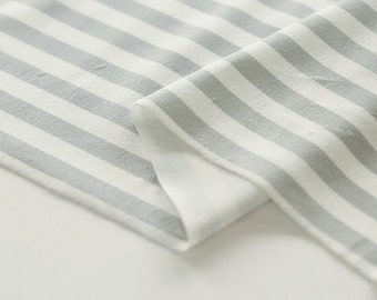 Gray Stripes Smooth Minky Fabric 59 Inches Wide - Fabric By the Yard 96701