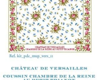 Special Order SAJOU Queen's Bedchamber Petit Trianon counted cross stitch cushion KIT patterns at thecottageneedle.com French