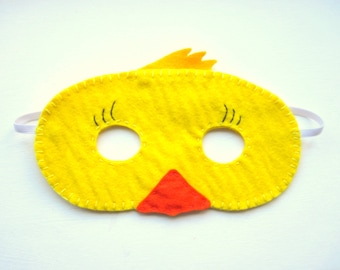 PDF PATTERN: Duck mask sewing tutorial - Yellow Easter felt DIY childrens costume - boys girls Dress Up play Holiday accessory