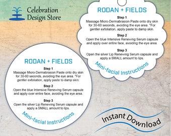 Rodan + Fields Mini-Facial Cards