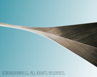 """Arch St. Louis Gateway Arch Sepia Copper Graphic Series Large 20"""" x 16"""" Canvas-Wrapped Frame: Arch Print Four"""