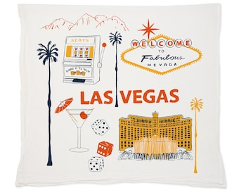 Las Vegas Tea Towel