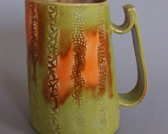 Green & Orange Beer Stein Tankard
