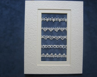 Tatted Lace Sampler with Mat