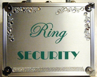 Crystal AB Rhinestone Wedding Ring Security Briefcase