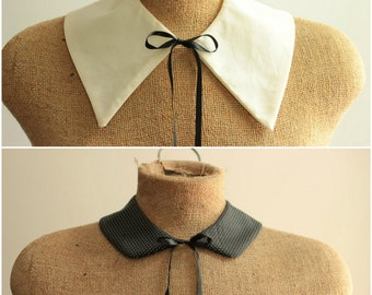 Easy Collar Patterns - 2 Patterns Included - PDF Sewing - Peter Pan and Pointy Styles