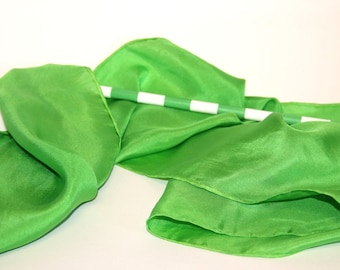 SALE - Silk Banner in Bright Green - Waldorf Toy- Unique Gift for Kids - Low Shipping Costs - Ready to Ship