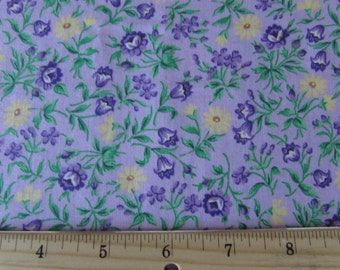 Purple and Yellow Flowers with Light Purple Background Fabric From VIP
