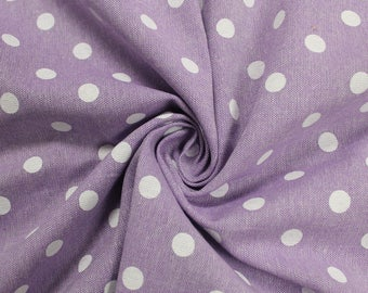 Lilac Polka Dot  58'' Chambray Cotton Fabric by the Yard - Style 3270