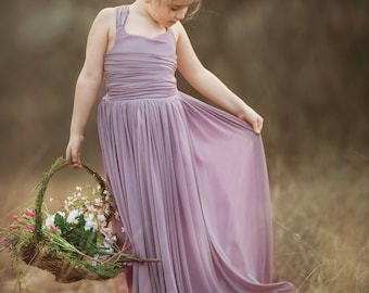 NEW!!! The Danielle Dress in Dusty Lavender - Flower Girl Tutu Dress