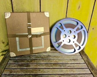 Vintage 16mm (800ft.) Film  Reel Canister Case Shipping Box Mailer