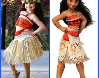 Moana Costume Disney Moana Dress Moana outfit Girls Toddler Adult Moana Cosplay Girls Moana Disney princess dress up Disney Princess Maui