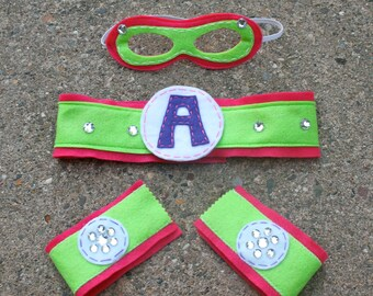 Girl Superhero Accessories-Perfect Christmas Gift-Customize- Superhero Accessory-Superhero Dress Up Party