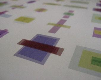 """Math Art Digital Print  - """"five caRd stud"""""""