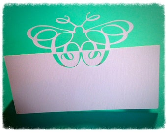 Butterfly Place Card Setting